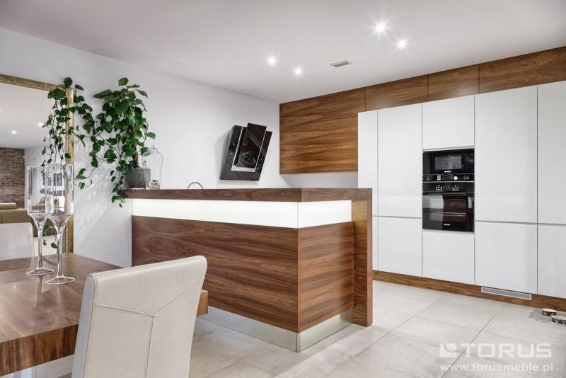 Galeria  Meble kuchenne Tychy, Gliwice projektowanie   -> Kuchnie Lakierowane Dwukolorowe